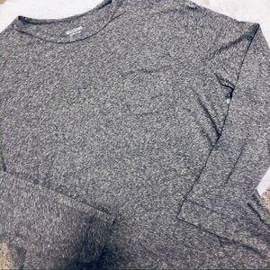 MOSIMMO • Men's l/s Soft Gray Pocket Tee • 2XL